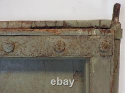 Antique Vintage Worn Peinture Porte En Bois Indien Mill-557