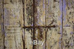 Antique Vintage Worn Peinture Porte En Bois Indiennes Et Cadre