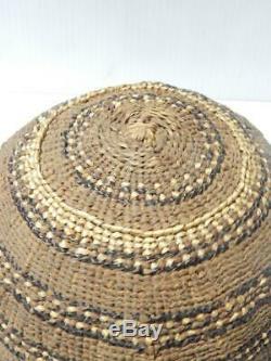 Antique Vintage Yurok (hupa) Panier Indian Hat Nw Californie Xlnt État