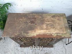 Armoire De Cuisine Antique Antique Indienne De Jali D'affichage En Bois De Jali D'affichage
