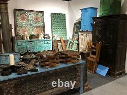 Armoire De Plateau En Bois De Style Art Déco Vintage / Table De Côté De Lit
