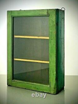 Armoire Indienne Antique De Cru. Art Déco. Affichage / Salle De Bains. Jade Et Turquoise