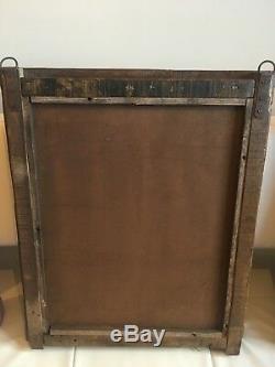 Authentique Shuttered Indien Fenêtre Cadre Miroir Teck Turquoise Distressed Vintage