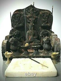Bouddha Indien Antique De Cru. Sanctuaire Bouddhiste / Autel. Katmandou Népal. Tibet