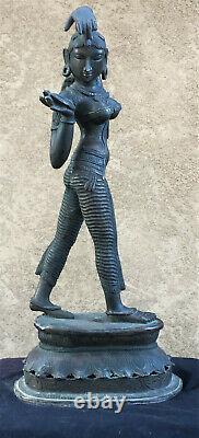 Bronze Indien De Cru D'une Femme De Danse
