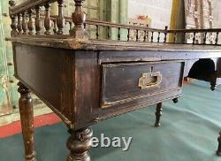Bureau Antique Antique De Commis Indiens Du 19ème Siècle