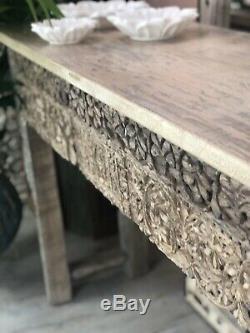 Console Sculpté Indian Vintage Table
