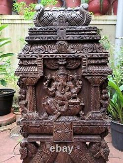 Ganesha Statue Kavadi Temple Hindou Gopuram Ganesh Sculpture Vintage Wall Panel