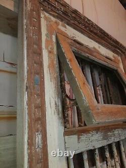 Grand Vintage Authentic Indian Reclaimed Jali Fenêtre Frame Shutter Garden