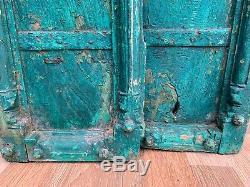 Handcrafted Peint Vintage Rare Collection En Bois De Fer Chape Old Window Inde