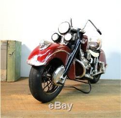 Indian Motorcycle Bike Roues En Caoutchouc De Fer Spokes Antique Style Vintage