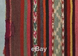 Magnificent Quechua Ikat Poncho Cérémonie Vintage Textile Tm8255