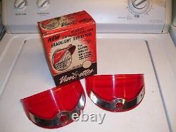 Original 1950 Nos Phares Visorettes Vintage Gm Chevrolet Ford Harley Dodge