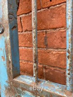 Paire De Grills De Bois Et De Métal Originaux Anciens Rustic Indian Jali Doors