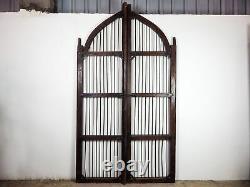 Paire De Portes De Jardin Indien Ancien Très Grand Mill-908/4