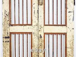 Paire De Portes De Porte De Jardin Indiennes Rustiques De Cru (mill-872/10)