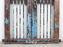 Paire De Portes De Porte De Jardin Indiennes Rustiques De Cru (mill 872/2)
