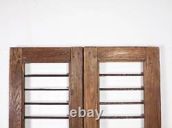 Paire De Portes De Porte De Jardin Indiennes Rustiques De Cru (mill 872/20)