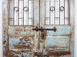 Paire De Portes De Porte De Jardin Indiennes Rustiques De Cru (mill 872/4)