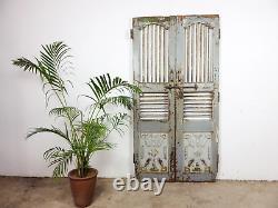 Paire De Portes De Porte De Jardin Indiennes Rustiques De Cru (mill 872/8)
