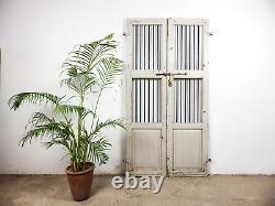 Paire De Portes De Porte De Jardin Indiennes Rustiques De Cru (mill-880/1) C8