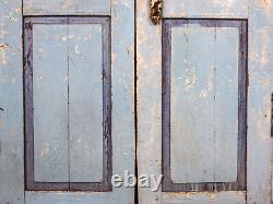 Paire De Portes De Porte De Jardin Indiennes Rustiques De Cru (mill-880/4) C8