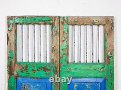 Paire De Portes De Porte De Jardin Indiennes Rustiques De Cru (mill-880/5) C8