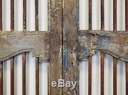 Paire De Vintage Rustic Indian Garden Gate Portes De Bois Franc (ref508)