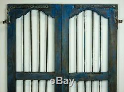 Paire De Vintage Rustique Indian Hardwood Jali Portes Garden Gate (ref506)