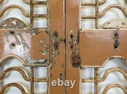 Paire De Vintage Rustique Indiens De Bois Franc Jali Garden Gate Portes (ref517)