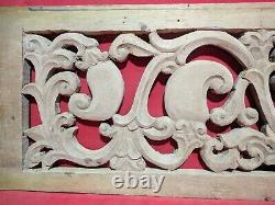 Panneau Antique En Bois Mural Floral Handcarved Vintage Panneau Home Church Decor Rare