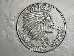 Poêle En Fonte Vtg Antique Wapak Indian Head Hollow Ware No 9 Griswold