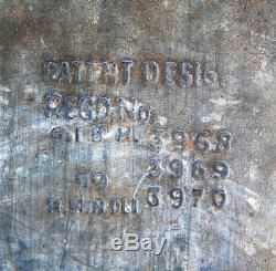 Rare 1969 Or Metal Spot Cooler Publicité Vintage Peinte À La Main Boîte Indienne
