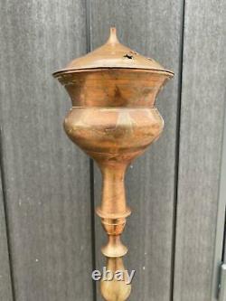 Rare Vintage Antique Hookah India Tuyaux En Laiton Original Décor Tabagisme Tabagisme 3kg
