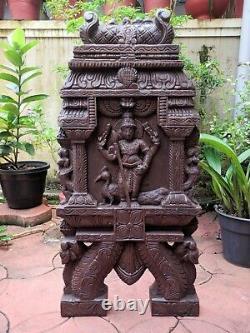 Statue Kartikeya Temple Kavadi Gopuram Muruga Sculpture Vintage Panneau De Mur Decor
