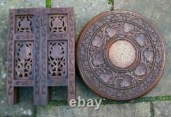 Table D'appoint Octagonale Pliante Anglo-indien