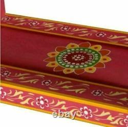 Tiroirs Faits À La Main Armoire Sideboard Peint Vintage Indian Antique Solid Mango