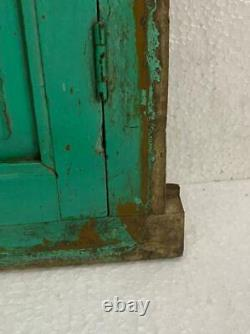 Vieux Vintage Rare Unique À La Main Pliable Porte Fenêtre En Bois