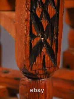 Vin Anglo-indien Pliant Table De Café Laiton Top Jambes Sculptées Vintage