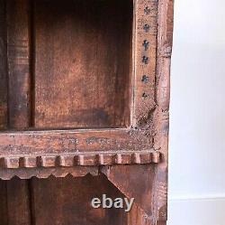 Vintage 19ème Siècle Victorien Antique Indian Sculptées Cabinet Books Cupboar