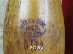 Vintage Années 1900 Peck & Snyders Wood Indian Club Exercise Pins 25 Antique Gym 6lbs