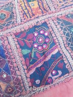 Vintage Antique Indien Jeter Kantha Mur Brodé Patchwork Boho