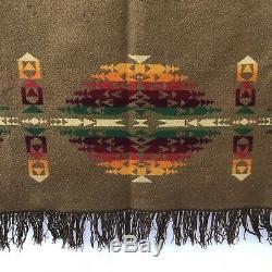 Vintage Antique Pendleton Trade Blanket 1920 1921 Troisième Étiquette Laine 65x67 Indienne