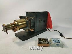 Vintage Antique Projecteur Indien De Lanterne Magique Du Début Du 20ème Siècle