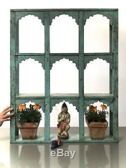 Vintage Arquéesles Unité D'affichage Indien. Six Mughal Cintrées. Baby Blue & Eau De Nil