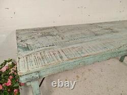 Vintage Authentique Indien Rustic Bleu Pliant Table De Mariage En Bois Événements