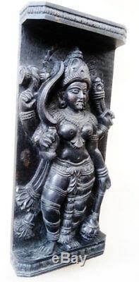 Vintage Durga Kali Devi Temple Panneau Mural Sculpture Panneau Old Statue