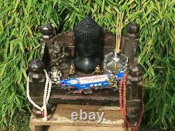 Vintage Grand Indien Sacré Hindou Maison Maison Sanctuaire Temple Puja Main Sculptée
