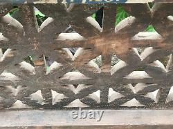 Vintage Indian Teak Wooden Coloured Window Jali Screen Salvaged From Rajasthan A Vintage Indian Teak Wooden Coloured Window Jali Screen Salvaged From Rajasthan A Vintage Indian Teak Wooden Window Jali Screen Salvaged From Rajasthan A Vintage Indian Te
