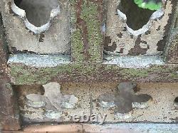 Vintage Indian Wooden Carved Balcony Panel Récupéré D'une Église Au Rajasthan 1